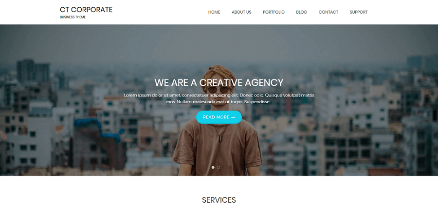 Top 10 Free WordPress themes 2018 CT-Corporate