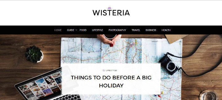 Top 10 Free WordPress themes 2018 Wisteria