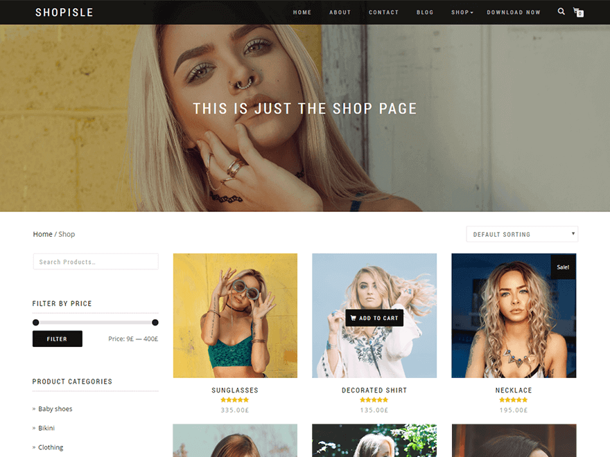 Top 10 Free WordPress themes 2018 shop-isle